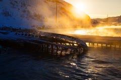 Части покинутых кораблей на северном побережье Стоковые Фото