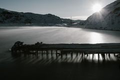 Части покинутых кораблей на северном побережье Стоковая Фотография RF
