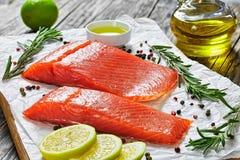 2 части посоленного salmon филе рыб Стоковые Изображения RF
