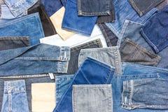 Части предпосылки джинсовой ткани Стоковая Фотография RF