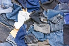 Части предпосылки джинсовой ткани Стоковая Фотография