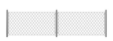 2 части проволочной изгороди изолированной на белой предпосылке иллюстрация штока