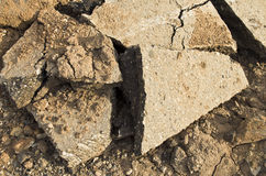 Части разрушенного бетона Стоковые Фотографии RF