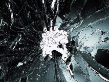 Части разрушенного или поломанного стекла на белизне Стоковое Фото