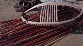 Части рамок yurt сток-видео