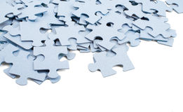 Части серого цвета головоломки стоковая фотография rf