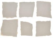 части собрания серые бумажные сорвали Стоковые Изображения RF