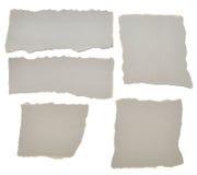 части собрания серые бумажные сорвали Стоковое Изображение RF