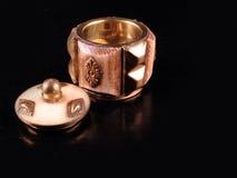 части стародедовского мрамора коробки декоративного открытые Стоковые Изображения