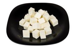 Части сыра в форме кубов Стоковые Фото