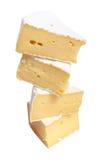 части сыра Стоковые Изображения