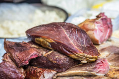 Части сырцового мяса свинины Стоковое Фото
