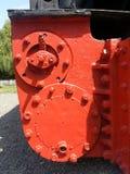 Части тела двигателя поезда стоковое фото