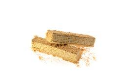2 части тортов вафли Стоковое Изображение RF