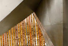 Части установок современного искусства в центр Сиэтл Стоковое фото RF
