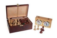 части часов шахмат стоковые изображения rf