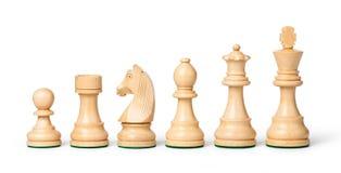 части шахмат деревянные стоковое фото