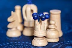 части шахмат деревянные Стоковые Фото