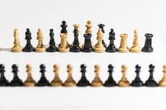 части шахмат предпосылки белые стоковое изображение