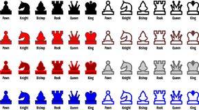части шахмат Стоковое Изображение RF