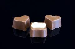 части шоколада Стоковая Фотография