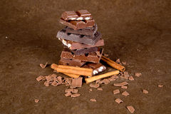 Части шоколада - 02 Стоковые Фото