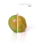 Части яблока Стоковое Изображение