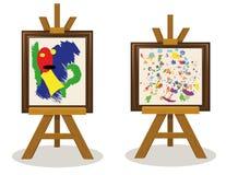 Части 2 современного искусства иллюстрация вектора