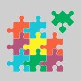 Части multicolor головоломок иллюстрация вектора