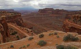 3 части Shafer Canyon Road стоковые изображения rf