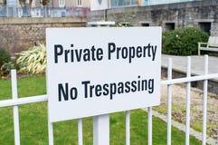 Частная собственность отсутствие Trespassing Стоковое Изображение RF
