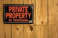 Частная собственность отсутствие tresspassing стоковая фотография