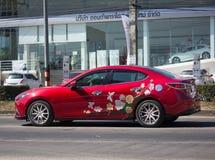 Частный автомобиль города, Mazda 3 Стоковые Фотографии RF