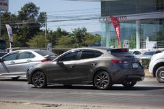 Частный автомобиль города, Mazda 3 Стоковое фото RF