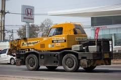 Частный вагон с краном TADANO Crevo 100 Стоковое Изображение