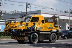 Частный вагон с краном TADANO Crevo 100 Стоковое фото RF