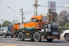 Частный вагон с краном TADANO Crevo 100 Стоковая Фотография RF