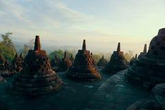 Частный висок Borobudur в раннем утре стоковые фото