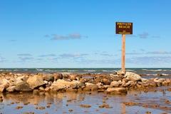 Частный пляж Стоковое Фото