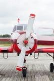 Частный самолет припаркован стоковое фото rf