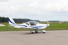 Частный самолет припаркован стоковая фотография rf