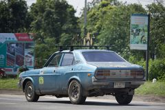 Частный старый автомобиль, автомобиль Mazda Стоковое фото RF