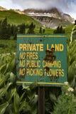 Частный Signage земли Стоковые Изображения RF