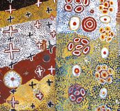 Часть аборигенного художественного произведения Стоковые Изображения RF