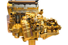 Часть автомобиля, золотая Стоковое фото RF