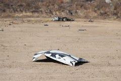 Часть автомобиля дунутая далеко от тренировки автомобильной бомбы Стоковая Фотография RF