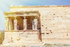 Часть акрополя в athenes Стоковые Фото
