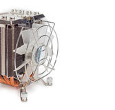 Часть активного heatsink C.P.U. с крупным планом вентилятора Стоковые Фото