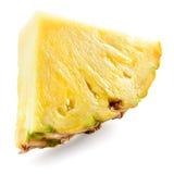 Часть ананаса изолированная на белизне стоковая фотография