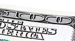 Часть 100 банкнот доллара, штабелированного фото Стоковые Изображения RF